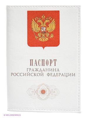 Обложка для паспорта Mitya Veselkov. Цвет: белый, красный