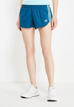 Шорты спортивные adidas Performance. Цвет: синий