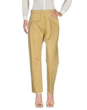 Повседневные брюки BOUCHRA JARRAR. Цвет: песочный