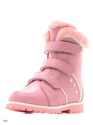 Ботинки ортопедические ORTHOBOOM. Цвет: розовый, лиловый