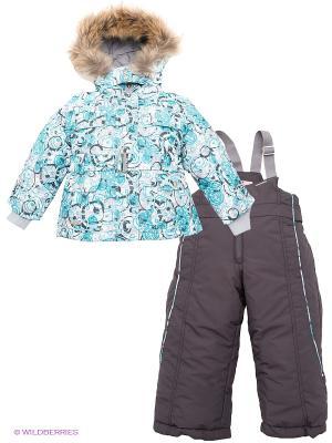 Комплект Hippo Hoppo. Цвет: серый, бирюзовый, голубой