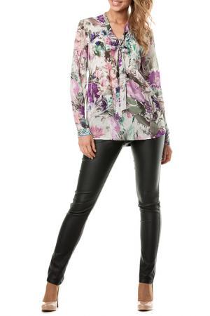 Блузка E.LEVY. Цвет: мульти