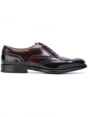 Классические туфли броги Churchs Church's. Цвет: коричневый