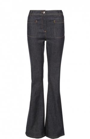 Расклешенные джинсы с контрастной прострочкой Carven. Цвет: синий