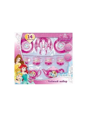 Набор посуды принцессы Играем вместе. Цвет: розовый