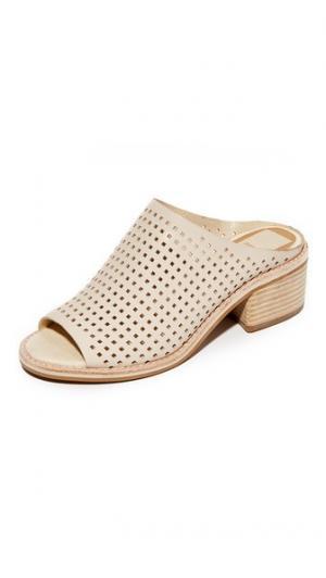 Перфорированные туфли без задников Kyla Dolce Vita. Цвет: оттенок белого