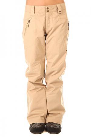 Штаны сноубордические женские  Brookside Pant Almond Oakley. Цвет: бежевый