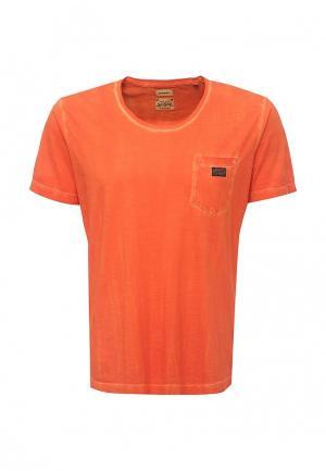 Футболка Diesel. Цвет: оранжевый