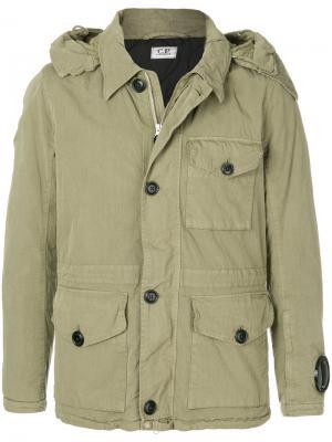 Куртка с капюшоном CP Company. Цвет: зелёный
