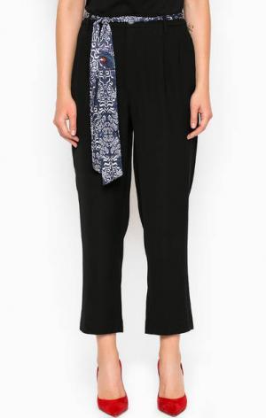 Укороченные черные брюки из полиэстера Miss Sixty. Цвет: черный
