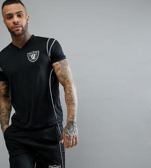 Majestic Футболка Raiders. Цвет: черный