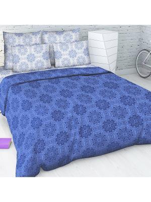 Комплект постельного белья из бязи 1,5 спальный Василиса. Цвет: синий