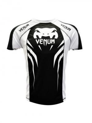Футболка Venum Electron 2.0 Walkout Dry Fit T-shirt. Цвет: черный, белый