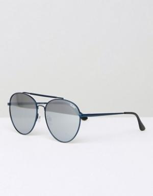 Quay Australia Солнцезащитные очки‑авиаторы в металлической оправе Lic. Цвет: черный