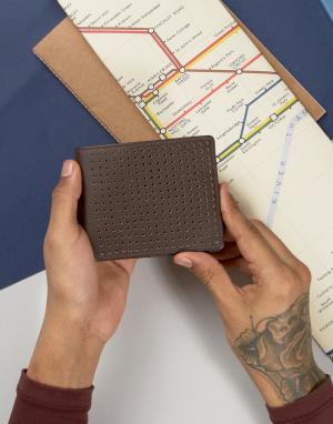 Systvm Кожаный бумажник с перфорацией. Цвет: коричневый