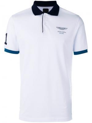Рубашка-поло с принтом на груди Hackett. Цвет: красный