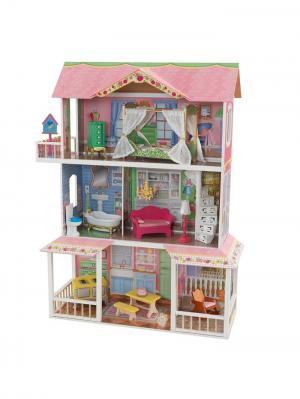 Деревянный дом Карамельная Саванна KidKraft. Цвет: розовый