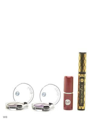 Спайка тушь secretale xtreme lashes mascara, помада lipstick classic, тени trio eyeshadow Bell. Цвет: черный, коричневый, розовый, серый, сиреневый, темно-серый, фиолетовый