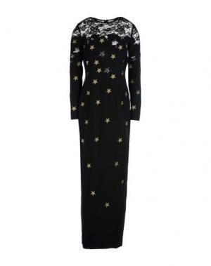 Длинное платье ALESSANDRA RICH. Цвет: черный