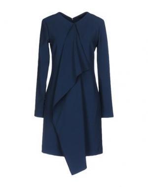 Короткое платье JO NO FUI. Цвет: грифельно-синий