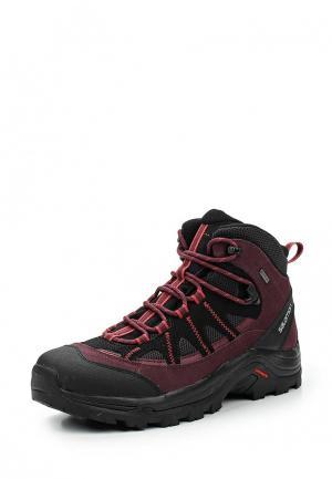 Ботинки трекинговые Salomon. Цвет: бордовый