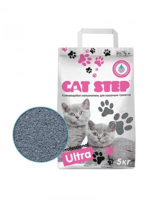 Professional комкующийся 5кг. Ultra нап. CAT STEP. Цвет: серый