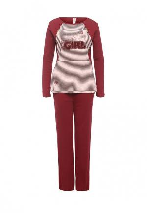 Пижама Relax Mode. Цвет: бордовый
