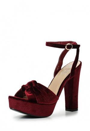 Босоножки WS Shoes. Цвет: бордовый