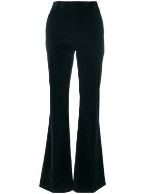 Расклешенные вельветовые брюки Prada. Цвет: синий