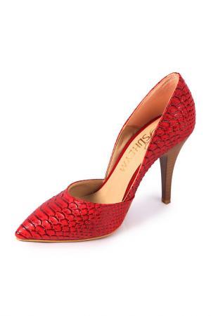 Туфли SUHEYM. Цвет: красный