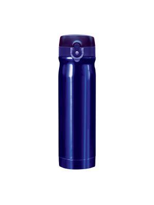 Термос QUICK OPEN, синий металлик, 500 мл WOODSURF. Цвет: синий