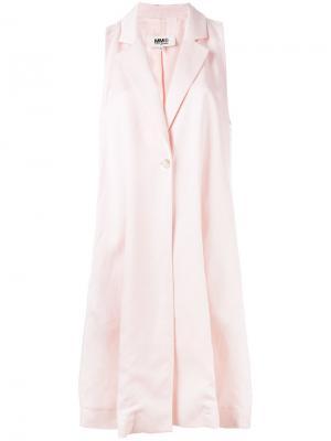 Длинный жилет Mm6 Maison Margiela. Цвет: розовый и фиолетовый