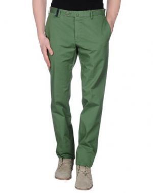 Повседневные брюки G.T.A. MANIFATTURA PANTALONI. Цвет: зеленый