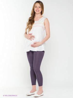 Леггинсы для беременных 40 недель. Цвет: лиловый