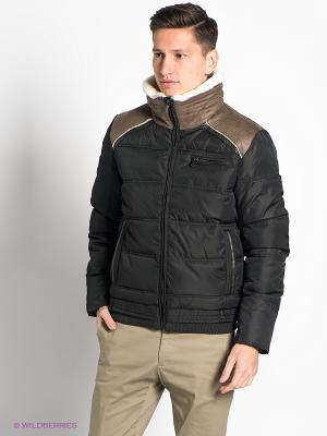 Куртка GroStyle. Цвет: темно-зеленый, коричневый