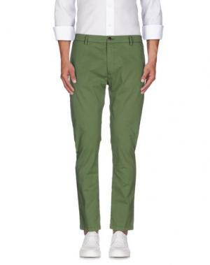 Повседневные брюки ONE SEVEN TWO. Цвет: зеленый