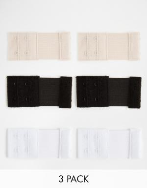 Fashion Forms Застежки-расширители для бюстгальтера с 2 крючками. Цвет: мульти
