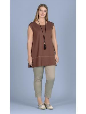 Блузка LALIS. Цвет: коричневый