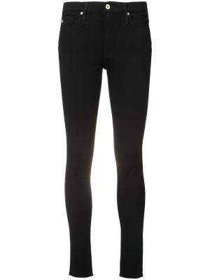 Джинсы с высокой талией Farrah Ag Jeans. Цвет: чёрный