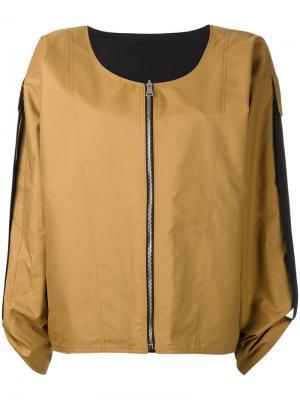 Стилизованная куртка-бомбер Jasmin Nehera. Цвет: телесный