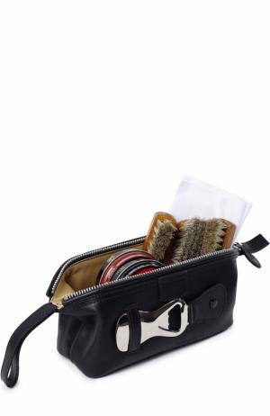Кожаный несессер с предметами для чистки обуви Truefitt&Hill. Цвет: бесцветный