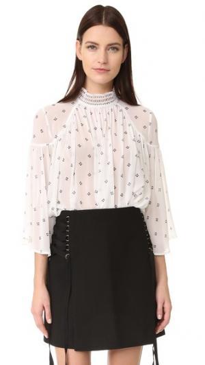 Блуза из ткани оксфорд Acler. Цвет: принт в виде бисера