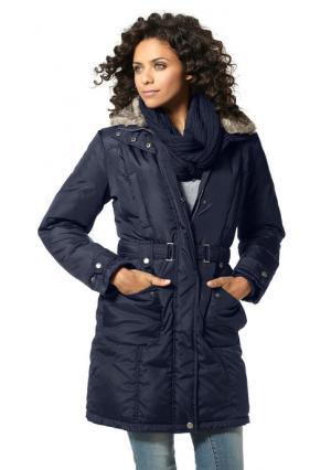 Куртка пуховая BOYSENS BOYSEN'S. Цвет: цвет белой шерсти, коричневый, темно-синий, цвет баклажана, черный