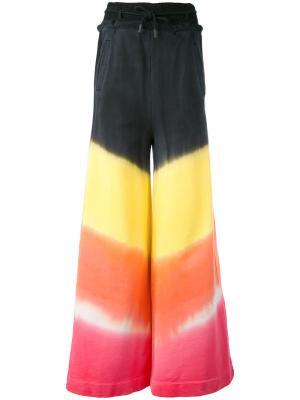 Широкие брюки с эффектом тай-дай Off-White. Цвет: чёрный