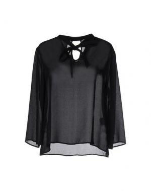 Блузка GOLD CASE. Цвет: черный