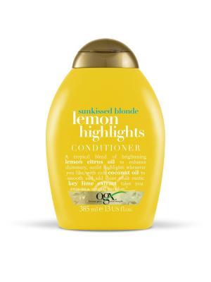 Кондиционер для сияния цвета с экстрактом лимона Солнечный блонд OGX. Цвет: белый