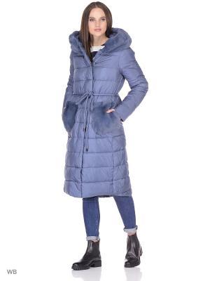 Пальто WINTERRA. Цвет: серо-голубой