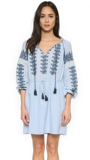 Платье Drea Love Sam. Цвет: нежно-голубой/темно-синий