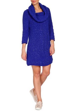 Платье VDP. Цвет: синий