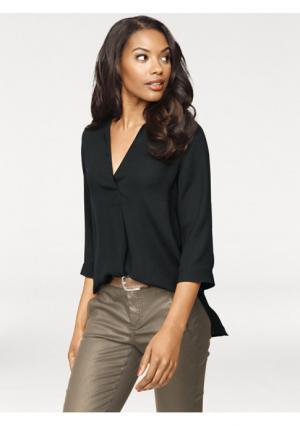 Блузка PATRIZIA DINI. Цвет: черный, экрю